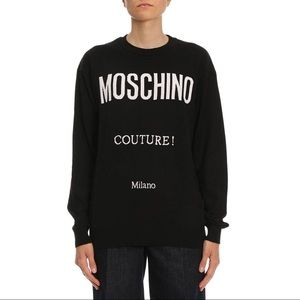 Authentic Moschino Couture Knit Crewneck Sweater
